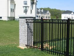 Glass Patio Fencing Outdoor And Patio Black Iron Doria Backyard Fence Combined With