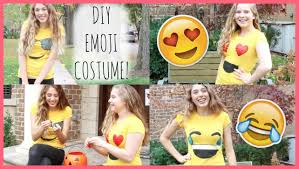 Halloween T Shirts For Girls Diy Emoji Costume Easy U0026 Cheap Youtube