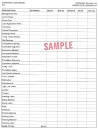 Free Construction Estimate Forms Templates by Construction Estimate Template Cyberuse