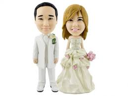 woman cake topper personalized wedding cake topper of a rosy