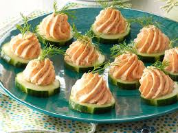 food canapes salmon mousse canapes recipe taste of home