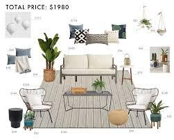 budget room design bohemian outdoor living room emily henderson