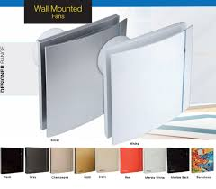 designer wall mounted fans fantech designer exhaust fan silent design series 100mm cz3c w