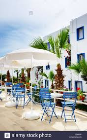 the terrace at luxury hotel bodrum turkey stock photo royalty