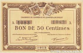 chambre de commerce brest 50 centimes regionalism and miscellaneous quimper et brest