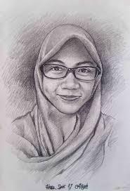 tutorial menggambar orang dengan pensil cara menggambar wajah wanita berjilbab cara menggambar