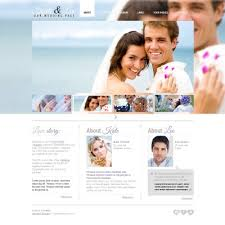 wedding web free website template wedding page