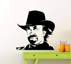 compare prices on cowboy wall stickers online shopping buy low chuck norris wall sticker texas cowboy vinyl decal classic movie poster home room interior decoration retro