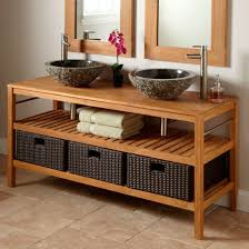 Teak Vanities 898765 L Teak Bathroom Vanity Vessel Double Sinks Latest Hair