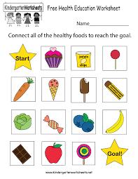 free printable health education worksheet for kindergarten