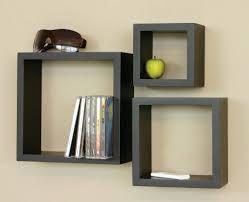splendid black wall shelving ideas plus outstanding square shape