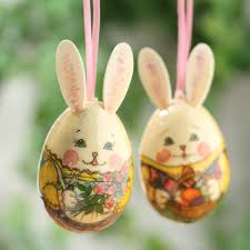 egg ornaments mr and mrs rabbit decoupage egg ornaments and easter