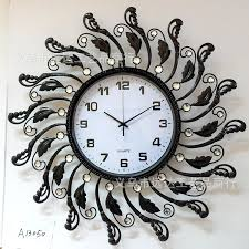 black wrought iron table clock european creative d factory direct large black wrought iron wall
