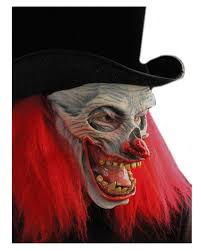 scary clown halloween mask horror clown in hat totenkopf clown clown nastier death horror