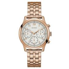 gold tone bracelet watches images Guess ladies 39 rose gold tone bracelet watch dc jewellers uk jpeg