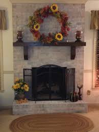 this was just a red brick fireplace thanks to pinterest i