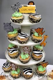 baby shower cupcakes jungle theme baby shower diy