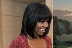 ms obamas hair new cut michelle obama s bangs are a total shock to the system photo