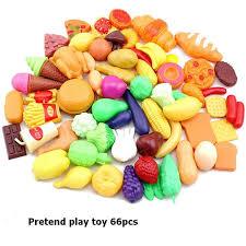 set cuisine enfant 66 pcs éducatifs enfant pretend play set de jouets cuisine fruits et