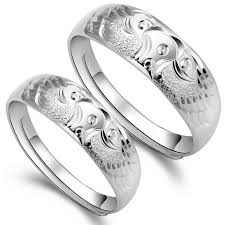 couples rings set images Yoyoon prototype carved 999 sterling silver mens ladies size jpg