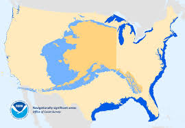 Alaska And Usa Map by Arctic Noaa Coast Survey