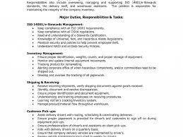 Warehouse Responsibilities Resume Download Duties Of A Warehouse Worker For Resume