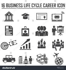 business career icons vector illustration simplus stock vector