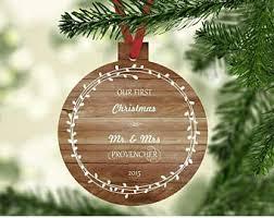 Personalized Wedding Christmas Ornaments Wedding Gift Couple Etsy