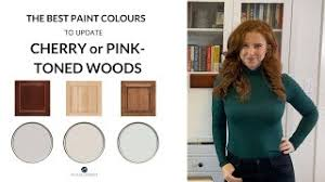 what paint color goes best with cherry wood cabinets wood cabinets cherry or pink the best paint colours to update them