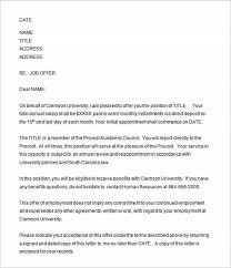 employment offer letters employment offer letter acceptance