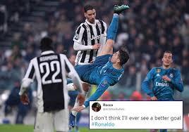 Football Player Meme - cristiano ronaldo s stunning bicycle kick has sent twitterati into a