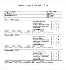 sample performance evaluation form