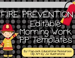 fire prevention week morning work powerpoint templates freebie