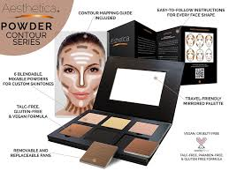 amazon com aesthetica cosmetics contour and highlighting powder