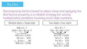 solve multi digit multiplication problems by using place value