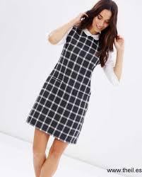 shift pattern en español dresses dorothy perkins mujer check collar 2 in 1 shift dress gris