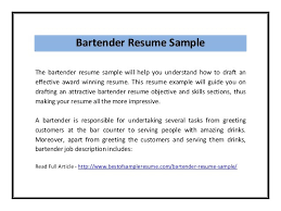 Resume Examples For Bartender by Home Design Ideas Sample Bartender Resume Examples Bartending