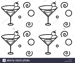 martini glasses clipart a cartoon martini glass seamless repeating pattern stock vector