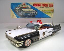 police car toy yonezawa tin friction 1962 cadillac police car 14