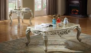 Livingroom End Tables by 602 Cesar Traditional Living Room Set In Silver By Meridian