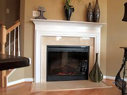 classic mantel shown with crema marfil marble and electric
