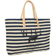 nautical bags will leather goods nautical stripe carry all tote navy blue