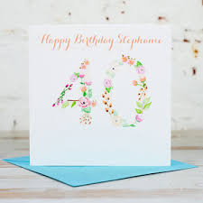 personalised 40th birthday cards