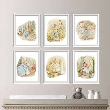 rabbit nursery rabbit nursery decor baby nursery print
