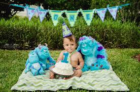 baby sullivan monsters inc themed cake smash u2014 ebb and flow