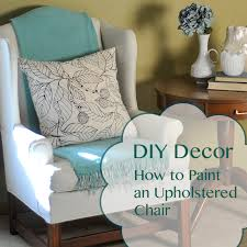 before and after how to paint an upholstered chair