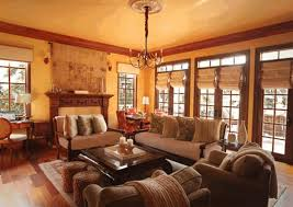 country style living rooms glossy brown wooden floor vintage