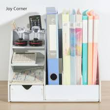 Corner Desk Organizer Diy Magazine Organizers Desk Organizer Book Holder Desk Stationery