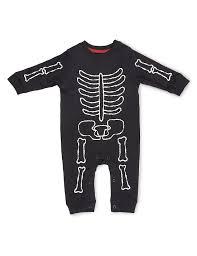 Halloween T Shirt With Baby Skeleton Pure Cotton Skeleton Print Onesie M U0026s