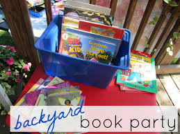kicking off summer reading backyard book party teach mama